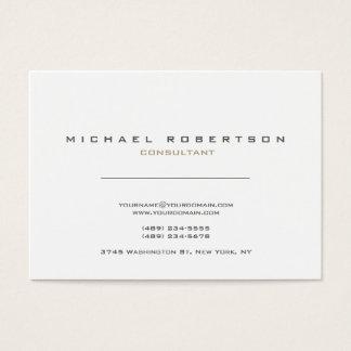 Blancos modernos exclusivos limpian tarjeta de negocios