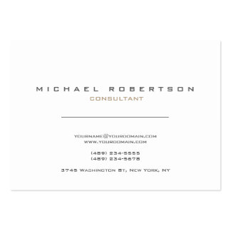 Blancos modernos exclusivos limpian tarjetas de visita grandes