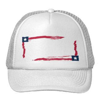 Blancos rojos y el azul del patriota añaden su gorro de camionero