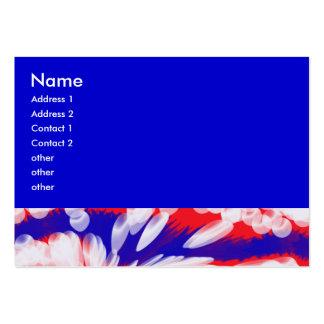 blancos y azules rojos tarjeta de visita