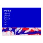 blancos y azules rojos, tarjetas de visita grandes