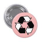 Blancos y negros rosados reciclan el botón del log pin
