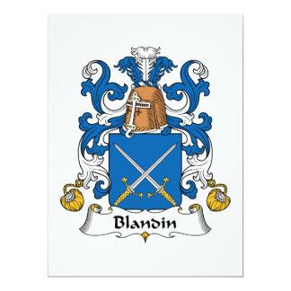 Blandin Family Crest Card
