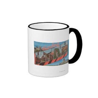 Blanding, Utah - Large Letter Scenes Ringer Coffee Mug