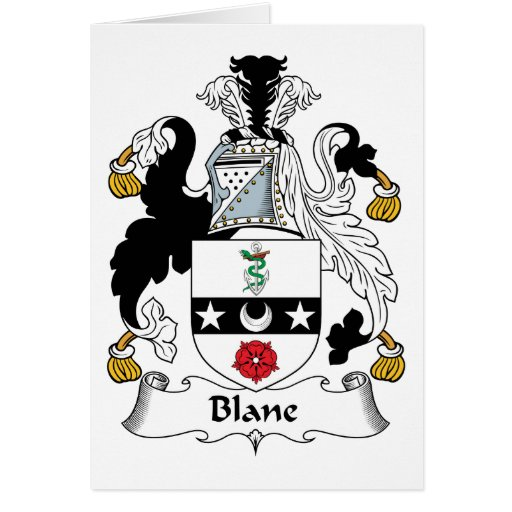 Blane Family Crest Cards