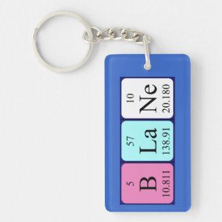 Blane periodic table name keyring Single-Sided rectangular acrylic keychain