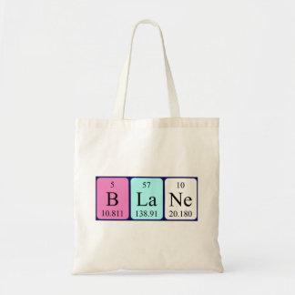 Blane periodic table name tote bag