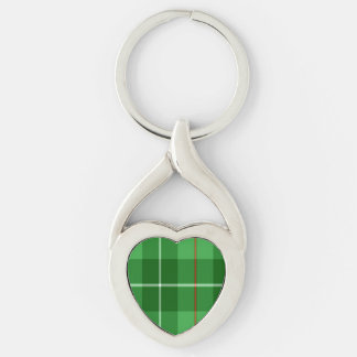 Blane Silver-Colored Heart-Shaped Metal Keychain