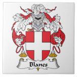 Blanes Family Crest Ceramic Tiles