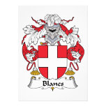 Blanes Family Crest Invitation