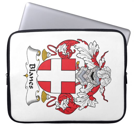 Blanes Family Crest Laptop Computer Sleeve