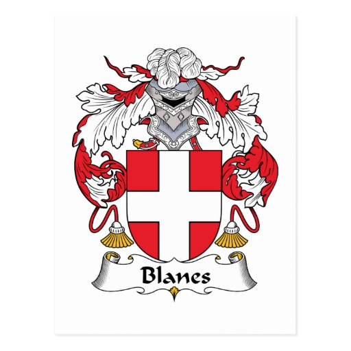 Blanes Family Crest Post Card