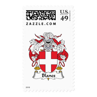 Blanes Family Crest Stamp