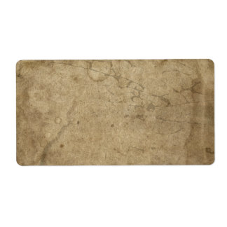 Blank Aged Distressed Paper, Dark Rustic Antique Label