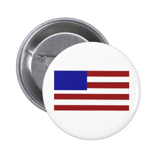 Blank American Flag 2 Inch Round Button