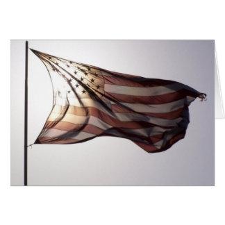Blank American Flag Greeting Card