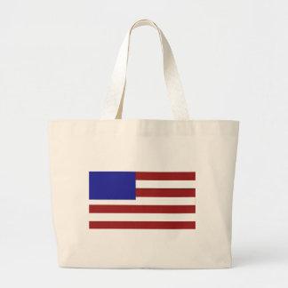 Blank American Flag Jumbo Tote Bag