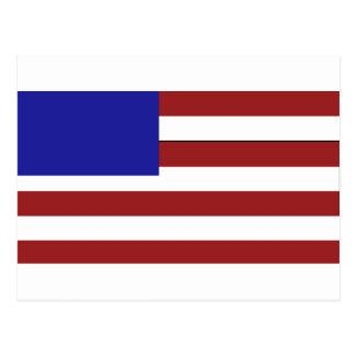 Blank American Flag Postcard