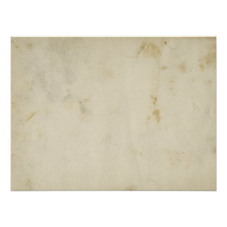Blank Antique Aged Paper Poster