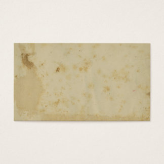 Blank Antique Stained 1870's Old Paper Business Card