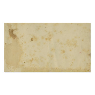 Blank Antique Stained 1870's Paper Business Cards