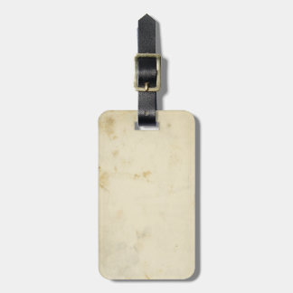 Blank Antique Stained 1870's Paper Luggage Tag