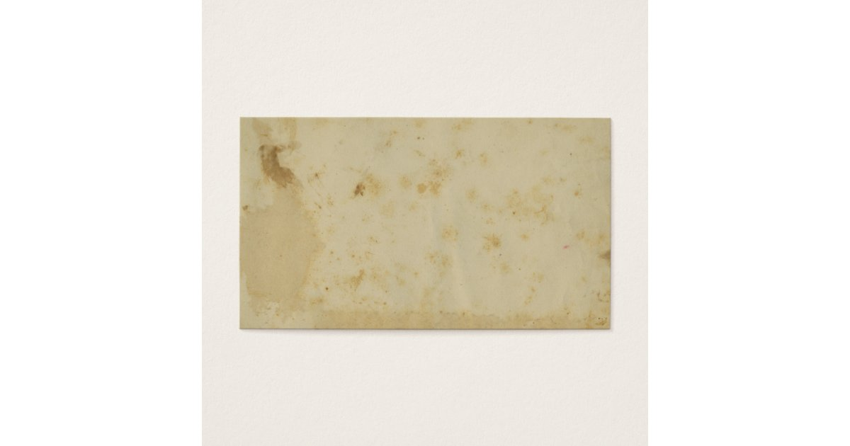 Blank Antique Stained 1870\'s Parchment Business Card | Zazzle.com