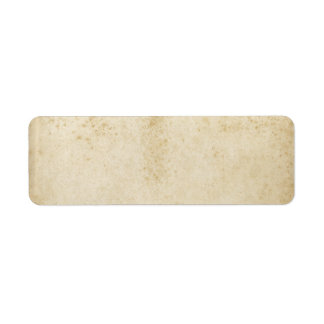 Blank Antique Stained Paper Label Return Address Label