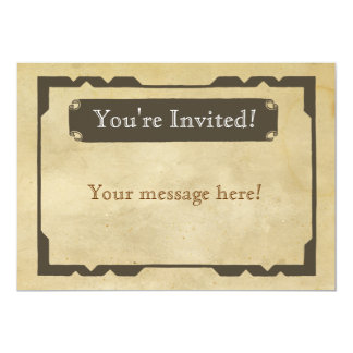 Blank Antique Theme Party Invitation