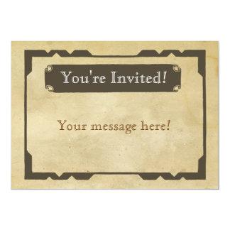 Blank Antique Theme Party Invitation