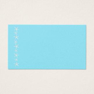 Blank Aqua Starfish Border Place Cards, Medium Business Card