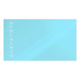 Blank Aqua Starfish Border Place Cards, Medium Business Cards