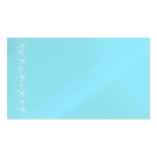 Blank Aqua Starfish Border Place Cards, Medium Double-Sided Standard Business Cards (Pack Of 100)