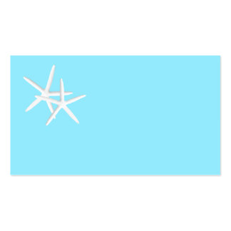 Blank Aqua Starfish Place Cards Double-Sided Standard Business Cards (Pack Of 100)