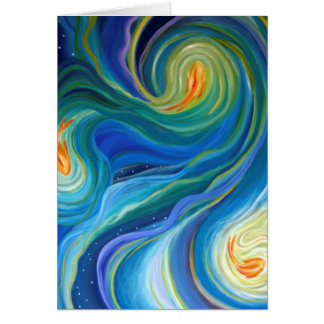 blank Art greeting card, original art fish Card