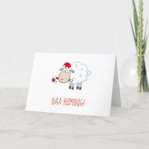 Blank Baa Humbug Christmas Card