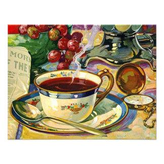 Blank Back Morning Coffee Still Life Invitation Or