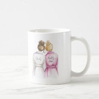 Blank Back Mug Brunette Bride Blonde Maid of H