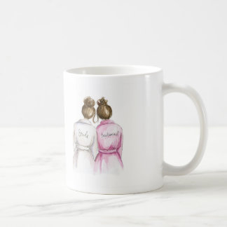 BLANK Back Mug Brunette Bun Bride Br Bun Bm