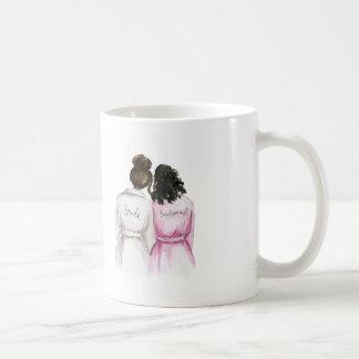 BLANK BACK Mug Dark Br Bun Bride Dk Curls Bm