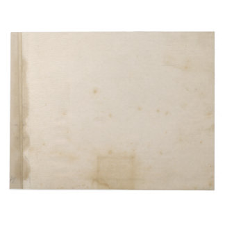 Blank Beige Distressed Antique Stained Paper Note Pad