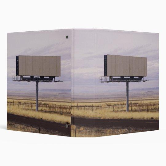 Blank Billboard 3 Ring Binder