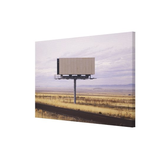 Blank Billboard Canvas Print