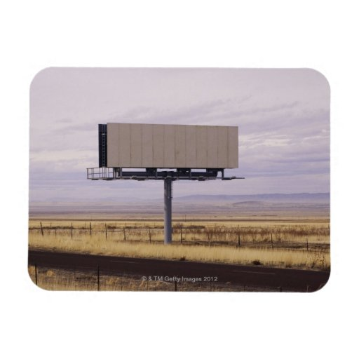 Blank Billboard Rectangular Photo Magnet