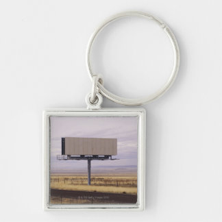 Blank Billboard Silver-Colored Square Keychain