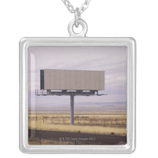 Blank Billboard Silver Plated Necklace