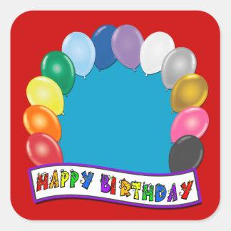 Blank Birthday Design Square Sticker