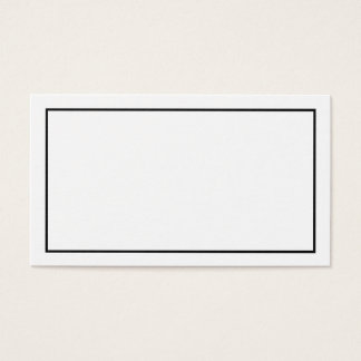 Blank Black and White Wedding Advice and Wishes Business Card
