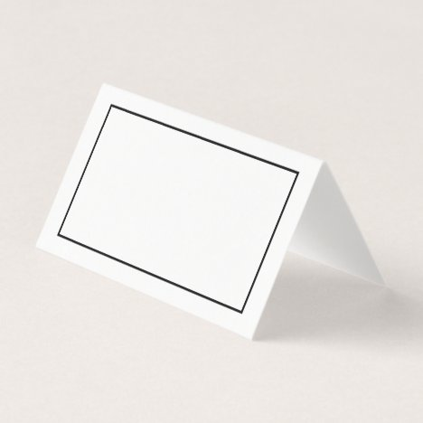 Blank Black and White Wedding Place Card