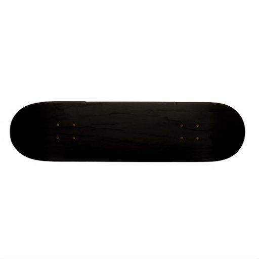 Blank Black Skateboard 7 7/8 Inch  Custom Template